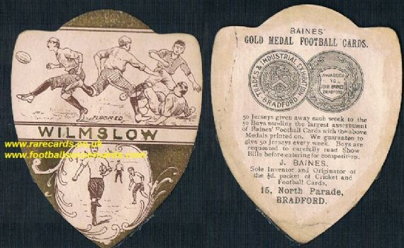 1900 Baines Wilmslow FC card